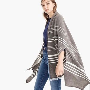 J. Crew Striped Cape Scarf